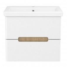 PUERTA комплект мебели 60см белый: тумба подвесная, 2 ящика + умывальник накладной арт 13-16-016