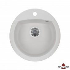 Мойка GRANADO RONDA 470x490x200 круглая white + сифон