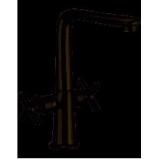 Смеситель для кухни Г-образ. гусак 2-х ручковой HAIBA OXFORD