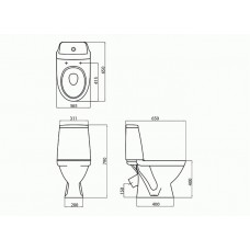 Унитаз компакт Kolo Modo + сиденье из дюропласта с микролифтом