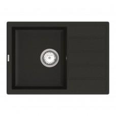 Мойка для кухни Vankor Easy EMP 02.62 Black прямоугольная с сифоном