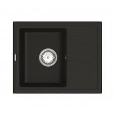 Мойка для кухни Vankor Lira LMP 02.55 Black прямоугольная с сифоном