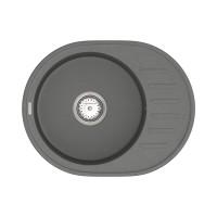 Мойка для кухни Vankor Lira LMO 02.57 Gray круглая с сифоном