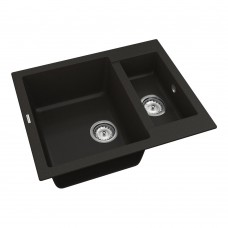Мойка для кухни Vankor Orman OMP 03.61 Black прямоугольная с сифоном