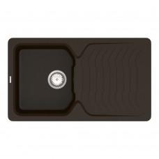Мойка для кухни Vankor Sigma SMP 02.85 Chocolate прямоугольная с сифоном