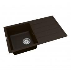 Мойка для кухни Vankor Easy EMP 02.76 Chocolate прямоугольная с сифоном