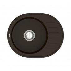 Мойка для кухни Vankor Lira LMO 02.57 Chocolate круглая с сифоном