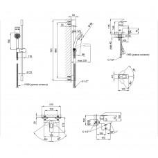 Набор смесителей Qtap Set CRM 35-411