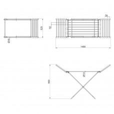 Сушилка для белья электрическая Qtap Breeze (SIL) 55701