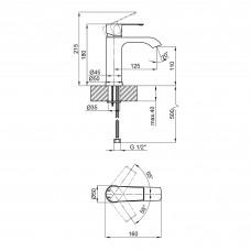 Смеситель для раковины Qtap Zelnava 1050101C