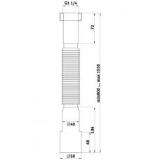 """Гофра-гайка 1 1/4"""" удлиненная d-50/40 Ани K216"""