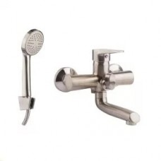 Смеситель для ванны GF Italy никелированный S02-005BN(NKS)
