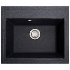 Мойка Solid Gross 600х520х200 прямоугольная черная + сифон