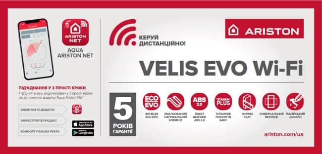 Банер бойлера Aroston ABS VLS EVO WIFI PW 80 V